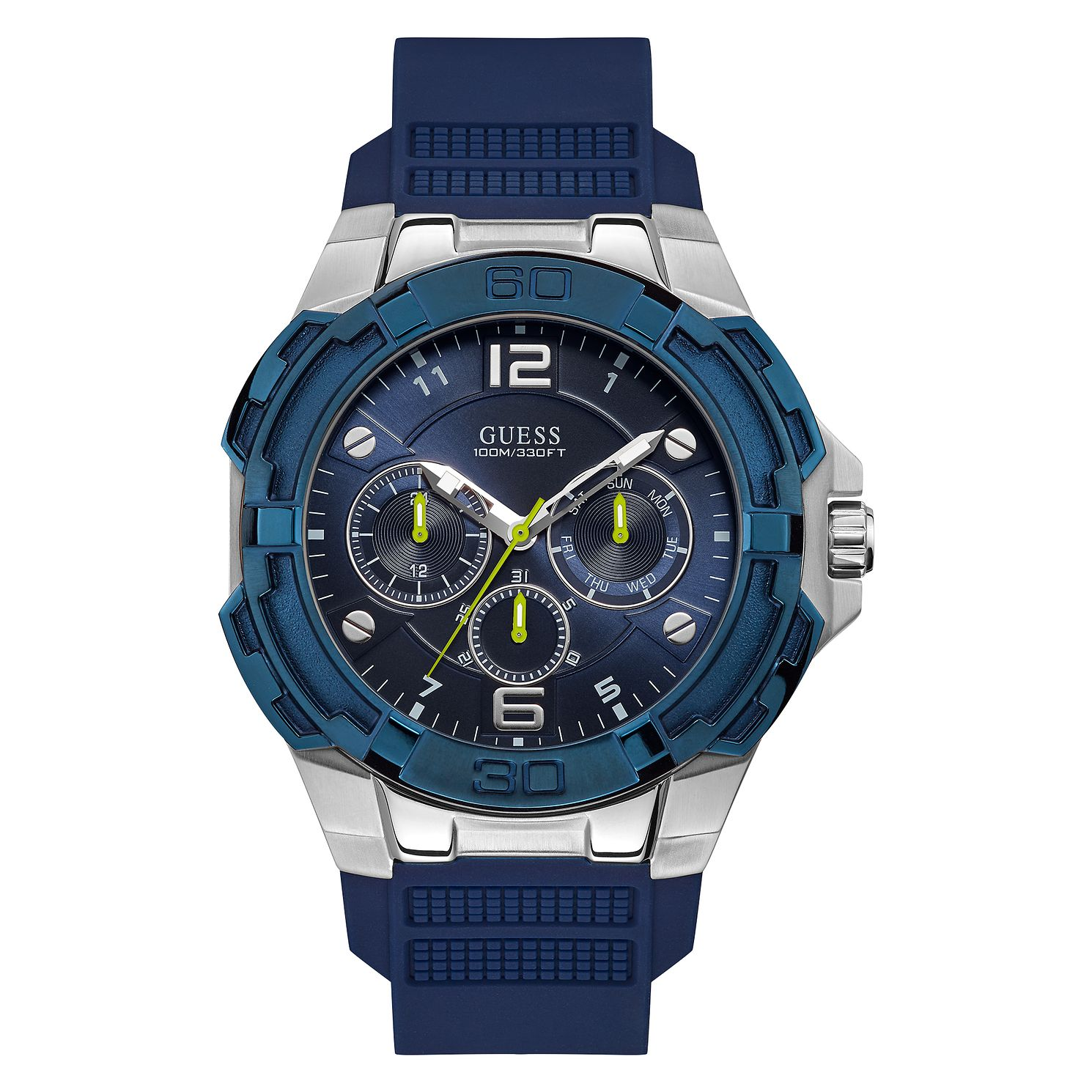 Guess Genesis Men's Blue Silicone Strap Watch - Product number 5191300