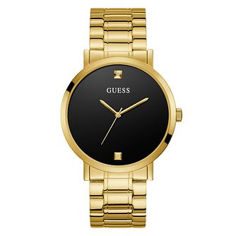Guess Supernova Men's Gold Tone Bracelet Watch - Product number 5191319