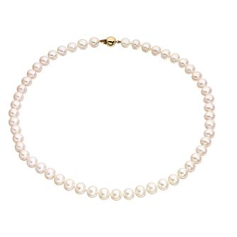"9ct Gold 17"" Cultured Freshwater Pearl Necklace - Product number 5192129"
