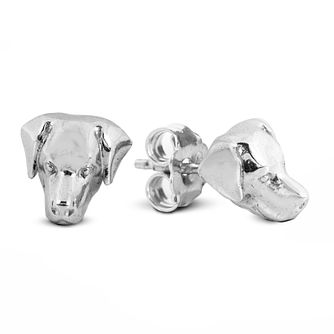 Dog Fever Silver Labrador Retriever Muzzle Stud Earrings - Product number 5194644
