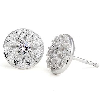 Chamilia Heirloom Lace Regal Sterling Silver Stud Earrings - Product number 5196523