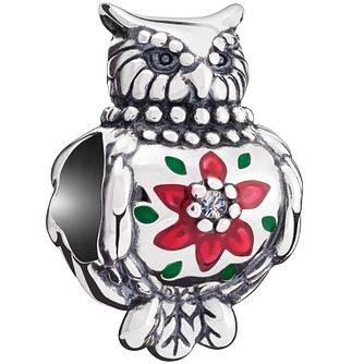 Chamilia Sterling Silver Embellished Owl Bead - Product number 5196868