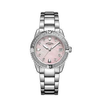 Rotary Crystal Ladies' Stainless Steel Bracelet Watch - Product number 5197902