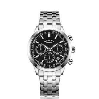 Rotary Chronograph Men's Stainless Steel Bracelet Watch - Product number 5197996