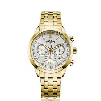 Rotary Chronograph Men's Gold Tone Bracelet Watch - Product number 5198011