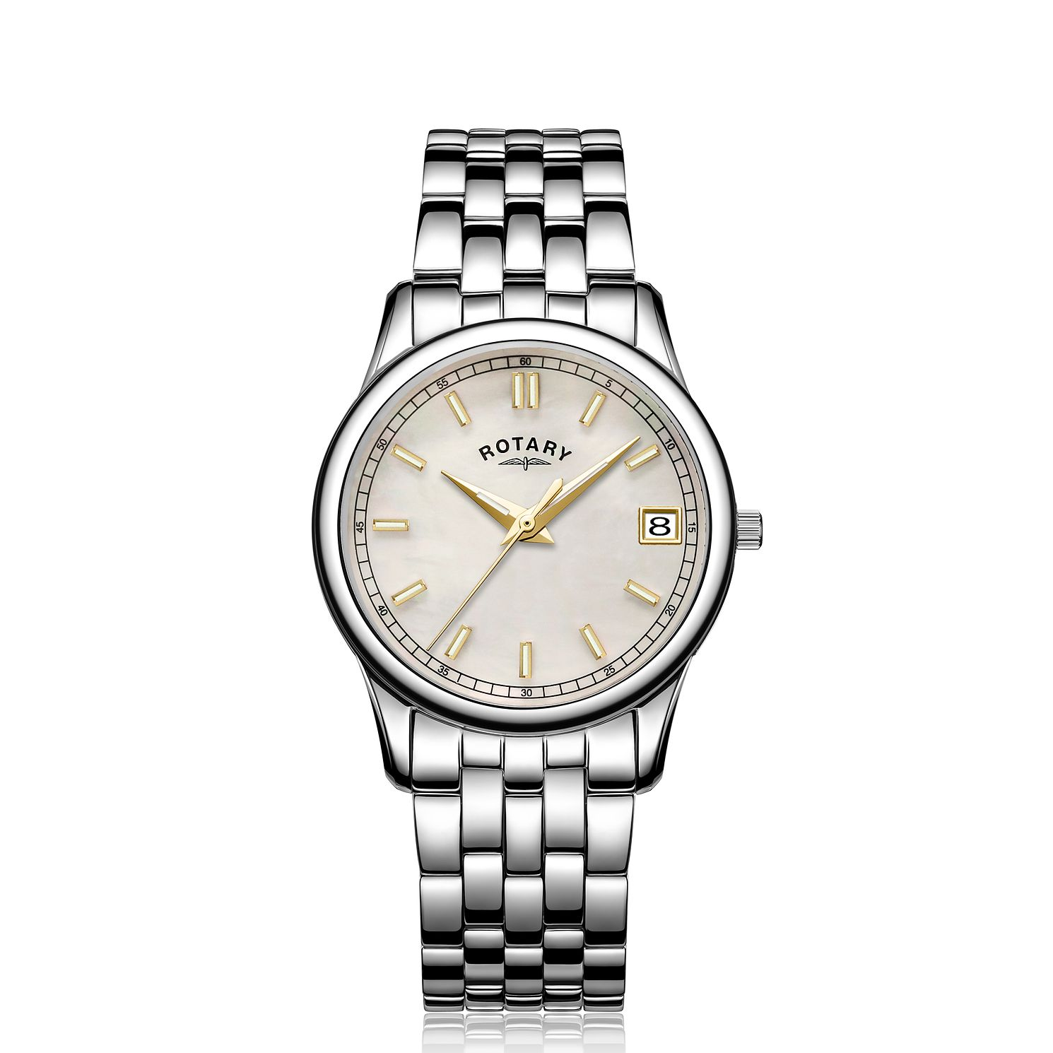 Rotary MOP Ladies' Stainless Steel Bracelet Watch - Product number 5198054