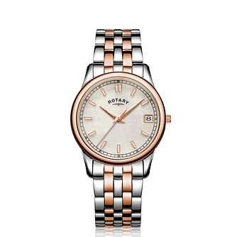 Rotary MOP Ladies' Two Tone Bracelet Watch - Product number 5198062