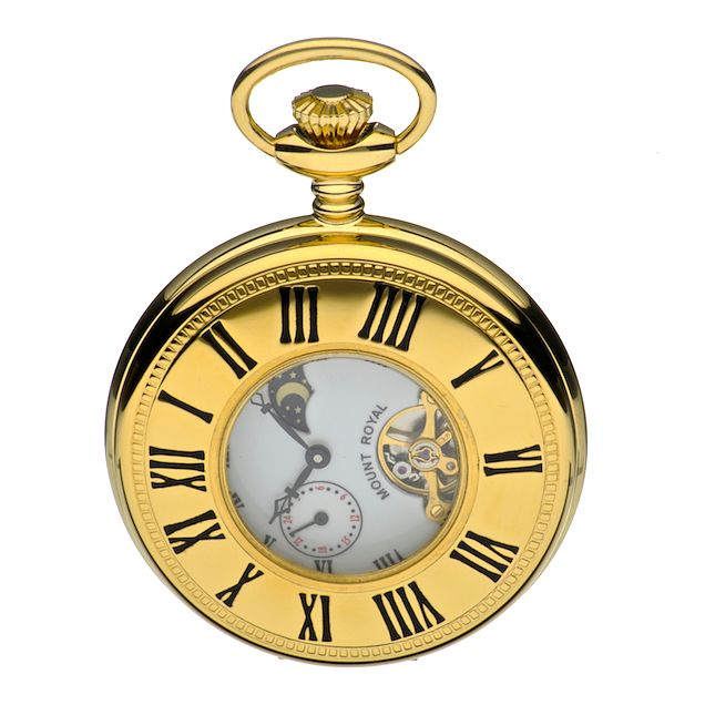 Mount Royal Gold-Plated Pocket Watch - Product number 5198089