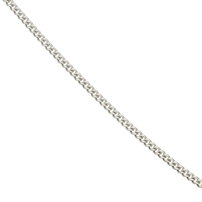 9ct White Gold 20 Inch Curb Chain - Product number 5199328