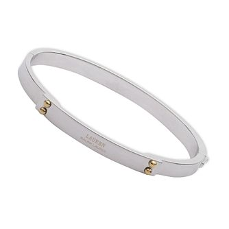 Lauren Ralph Lauren Sterling Silver Two Tone Logo Bangle - Product number 5199840