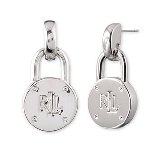 Lauren Ralph Lauren Sterling Silver Padlock Drop Earrings - Product number 5200164