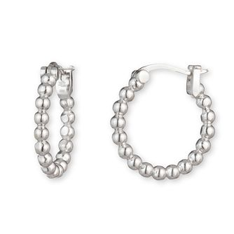 Lauren Ralph Lauren Silver 16mm Beaded Hoop Earrings - Product number 5200237