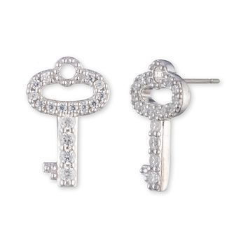 Lauren Ralph Lauren Silver Cubic Zirconia Key Stud Earrings - Product number 5200318