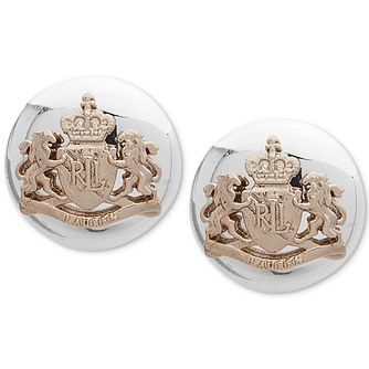 Lauren Ralph Lauren Sterling Silver Crest Stud Earrings - Product number 5200342