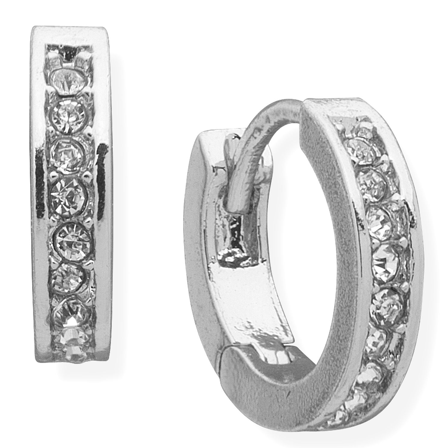 Lauren Ralph Lauren Silver Cubic Zirconia Hoop Earrings - Product number 5200407
