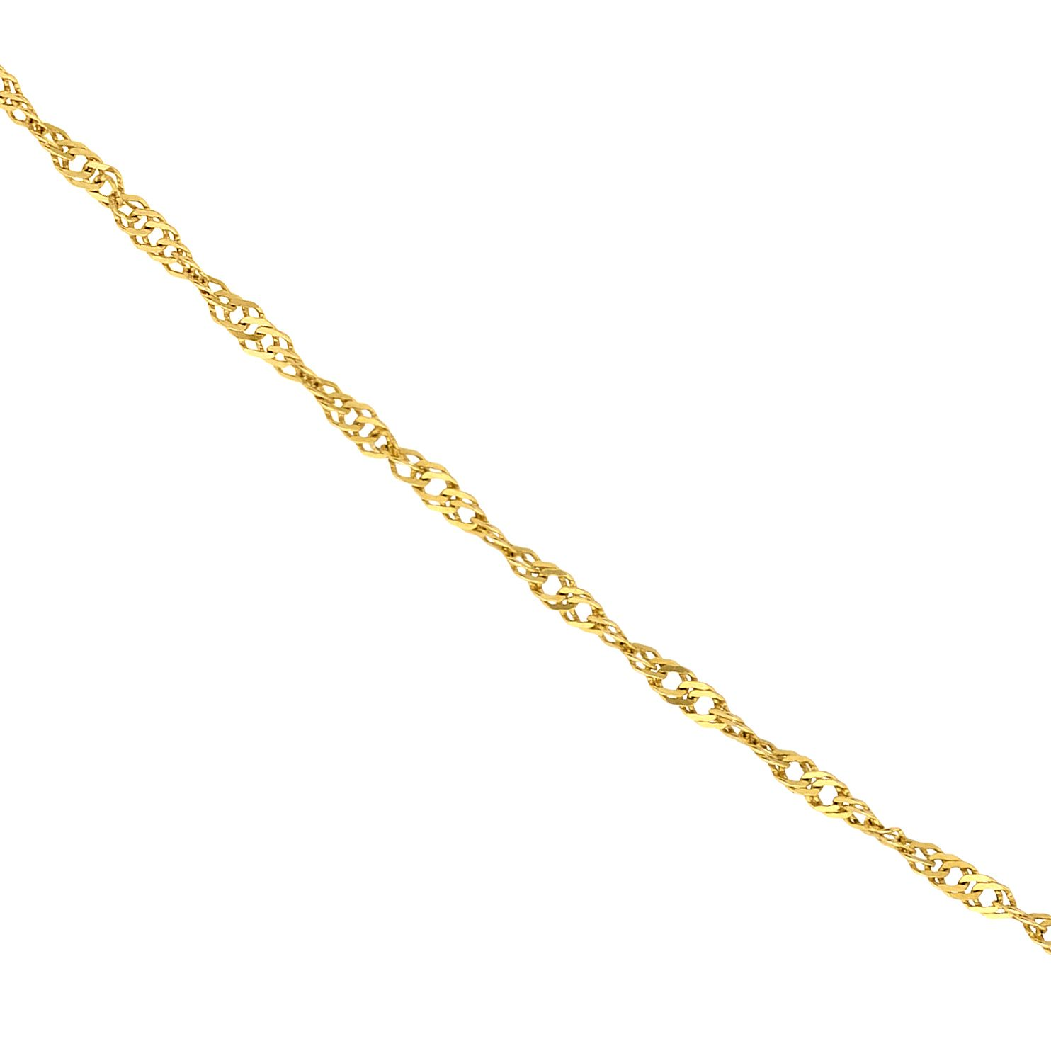 9ct Gold 18 inches Singapore Chain - Product number 5200601