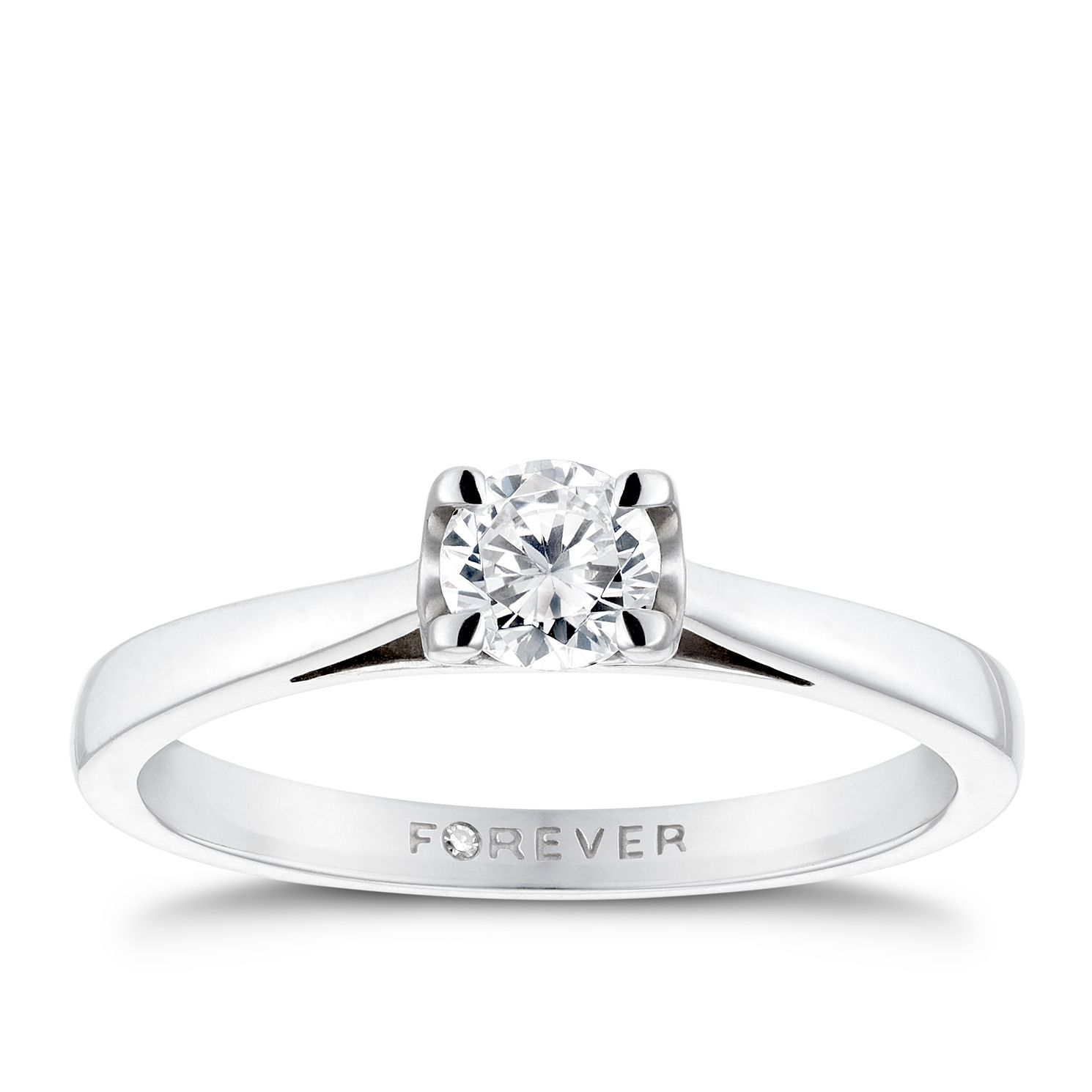 The Forever Diamond 18ct White Gold 0.38ct Ring - Product number 5203538