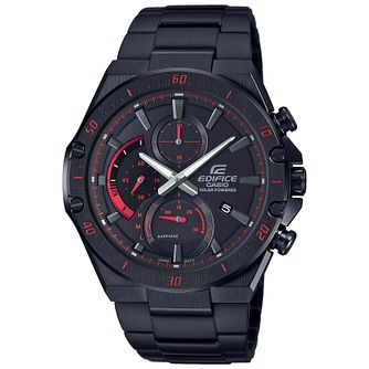 Casio Edifice Slim Men's Black IP Bracelet Watch - Product number 5210461