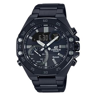 Casio Edifice Men's Black IP Bracelet Watch - Product number 5210534