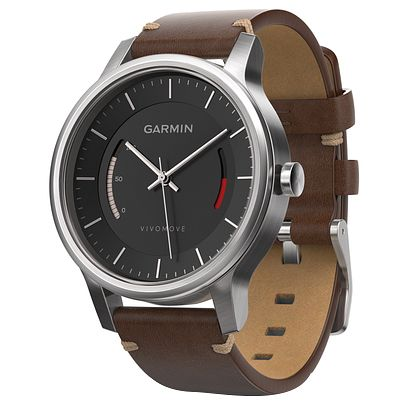 Garmin Vivomove Premium Brown Strap Activity Tracker - Product number 5210623