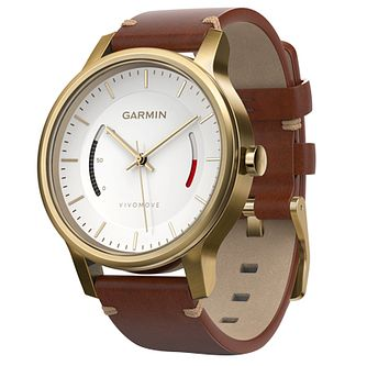 Garmin Vivomove Premium Brown Strap Activity Tracker - Product number 5212111