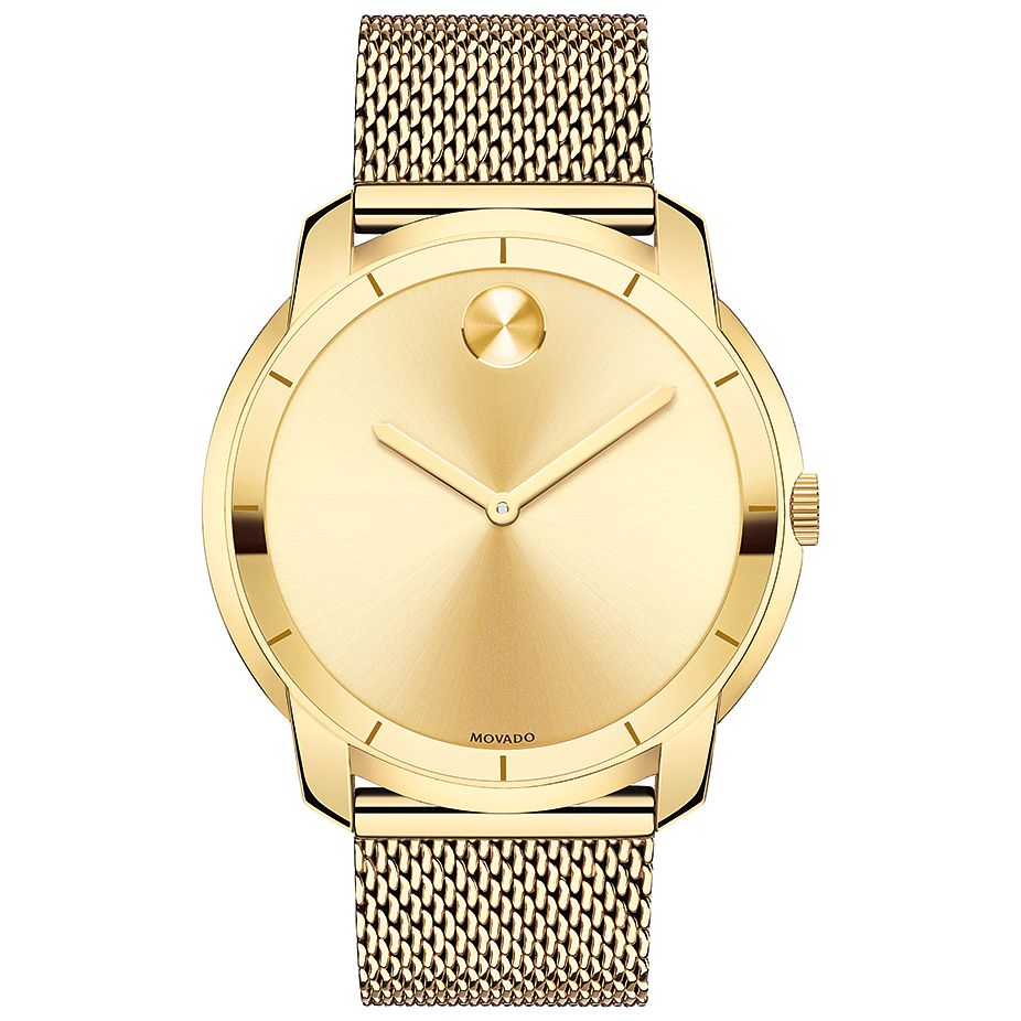 Movado Bold Men's Gold Tone Bracelet Watch - Product number 5212367