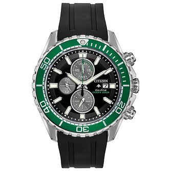 Citizen Eco-Drive Men's Black Rubber Strap Watch - Product number 5212863