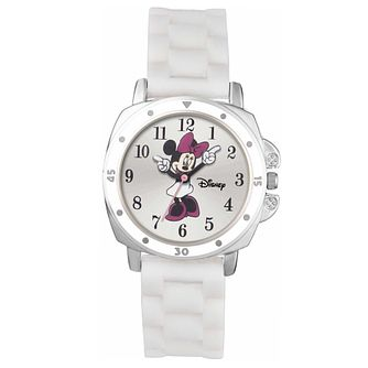 Disney Children's Movin' Hands Minnie White Strap Watch - Product number 5214807