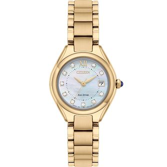 Citizen Silhouette Ladies' Yellow Gold Tone Bracelet Watch - Product number 5218357