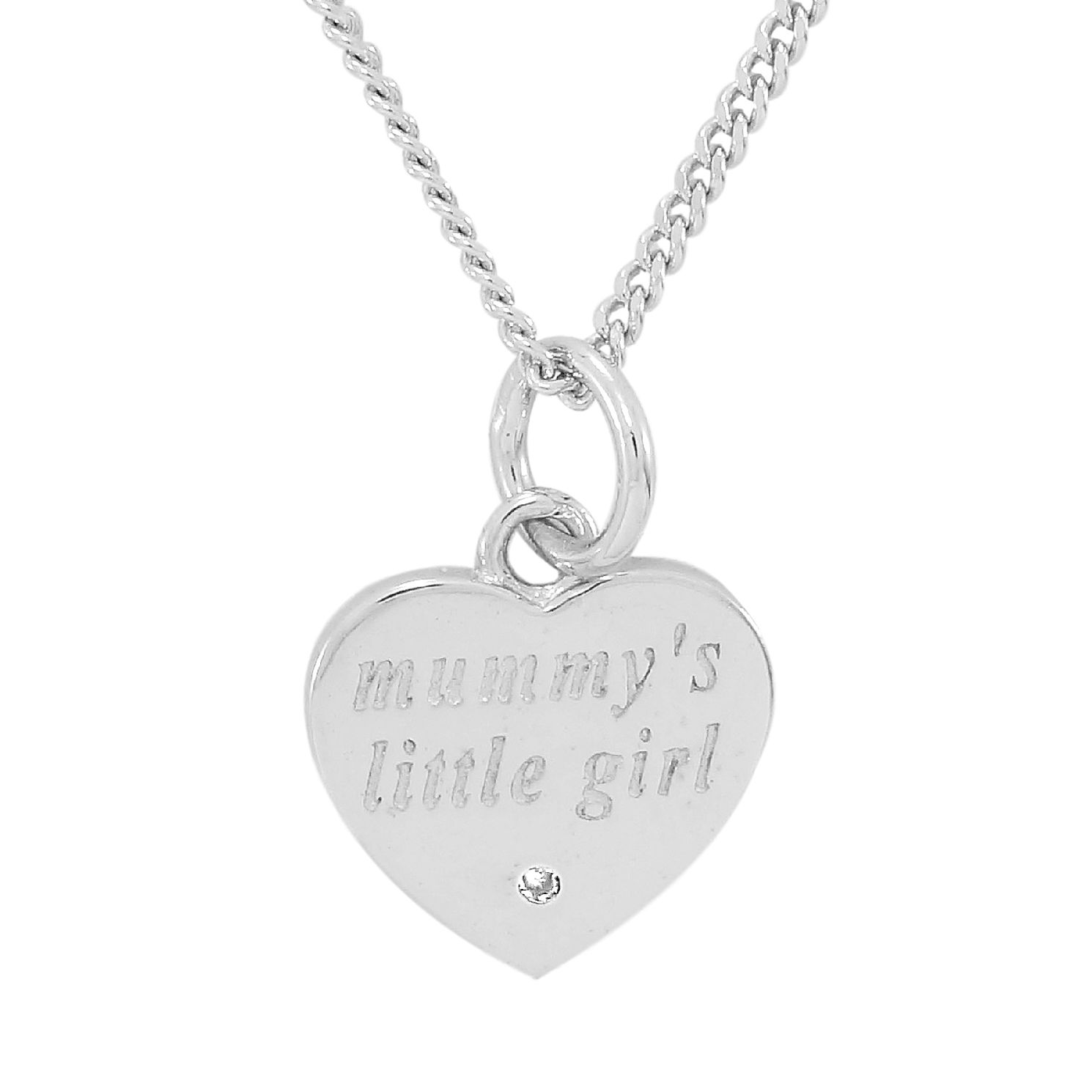 Diamond Wishes Sterling Silver Qxmummys Little Girl' Pendant - Product number 5220998