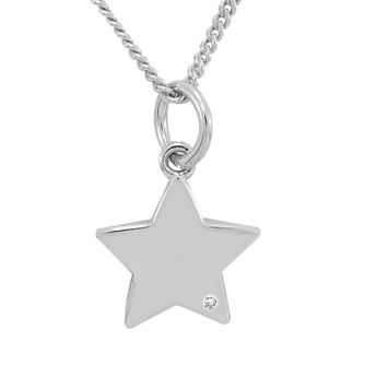 Diamond Wishes Sterling Silver Diamond-set Star Pendant - Product number 5221420