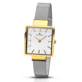 Accurist Ladies' Stainless Steel Mesh Bracelet Watch - Product number 5221439