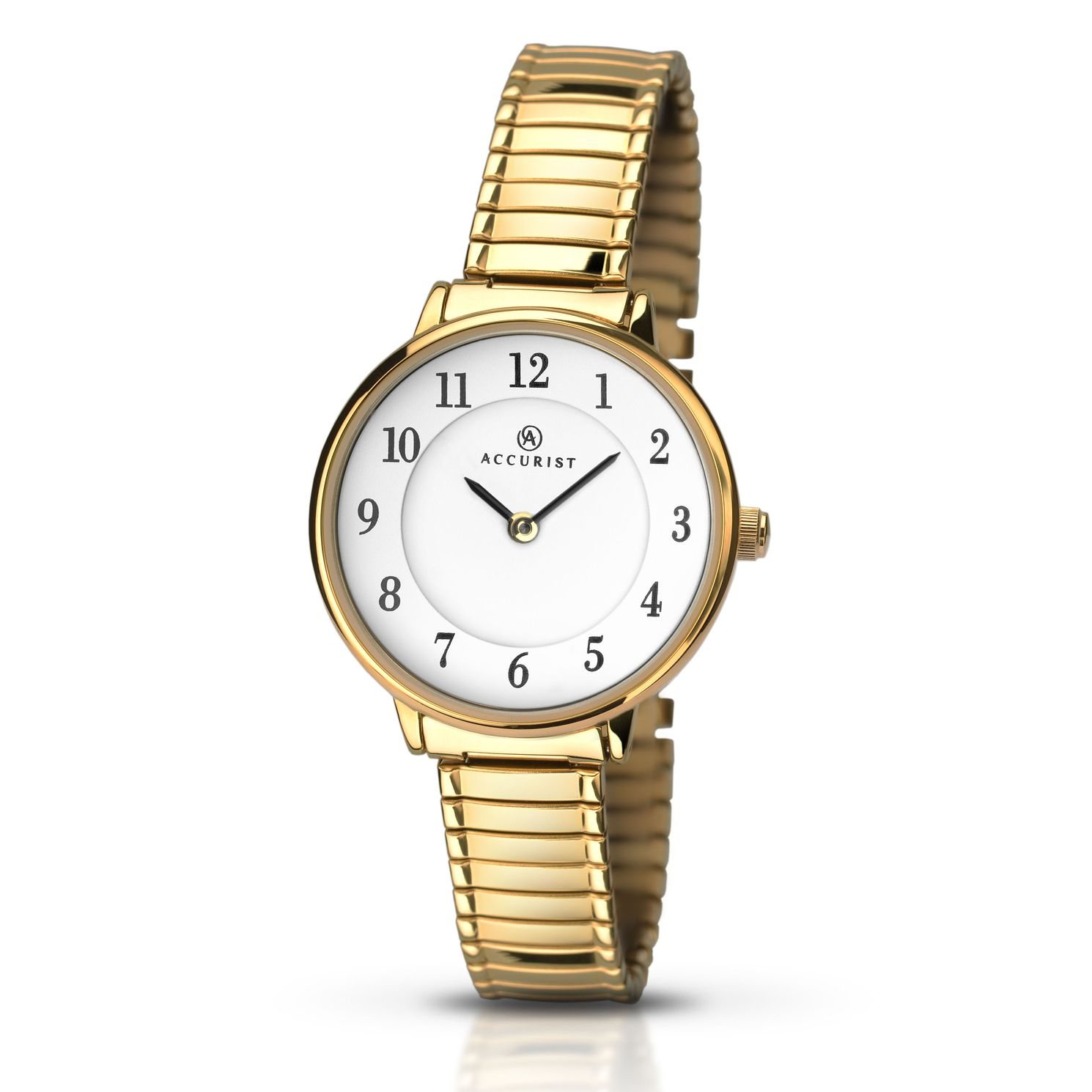 Accurist Ladies' Gold Plated Bracelet Watch - Product number 5221617