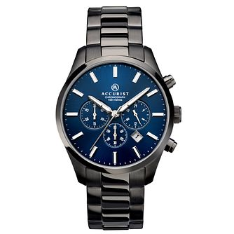 Accurist Men's Chronograph Gunmetal Steel Bracelet Watch - Product number 5221730
