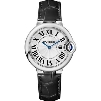 Cartier Ballon Bleu Ladies' Black Leather Strap Watch - Product number 5222834