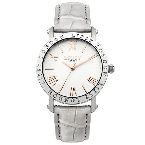 Lipsy Ladies' Grey Strap Watch - Product number 5225558