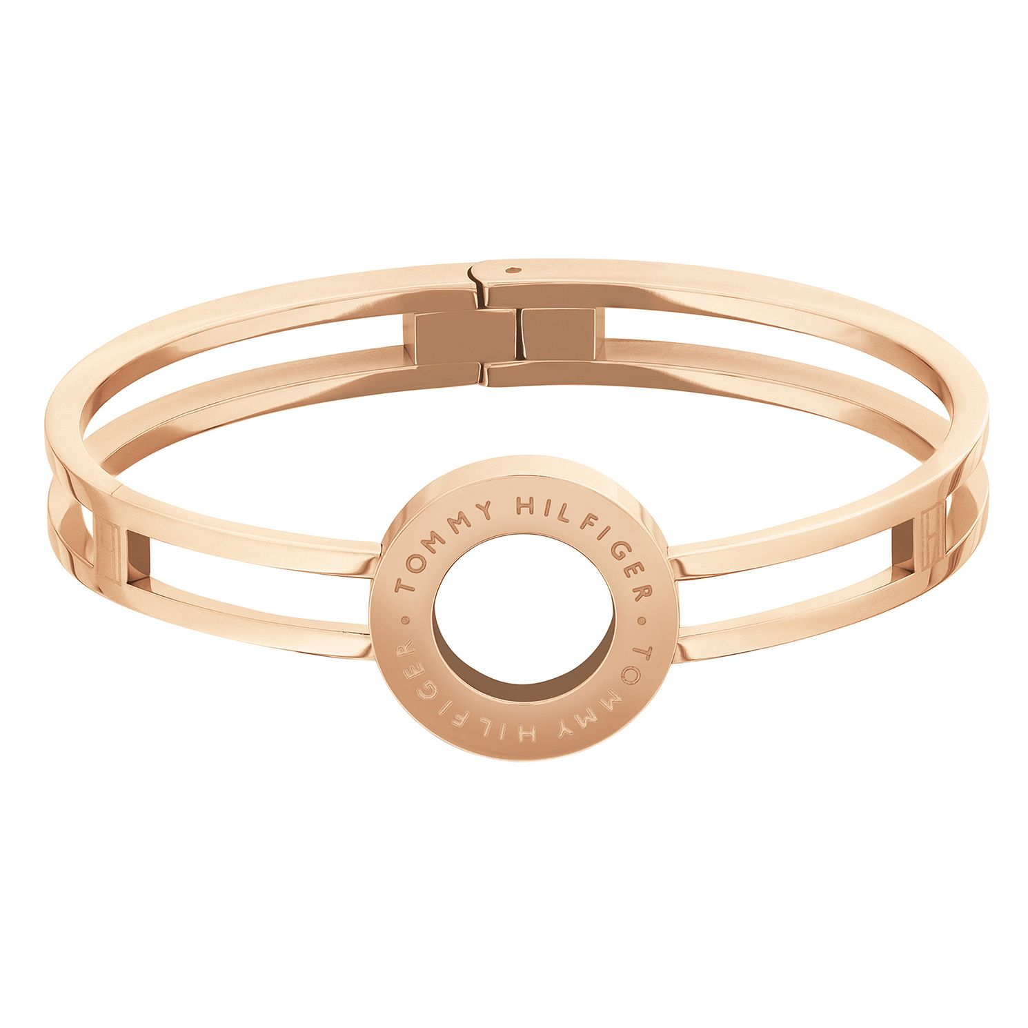 Tommy Hilfiger Rose Gold Tone Circle Hinged Bangle - Product number 5228336