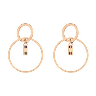 Tommy Hilfiger Rose Gold Tone Double Hoop Earrings - Product number 5228387