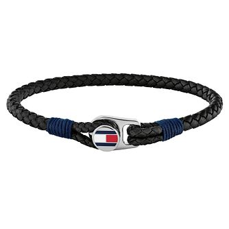 Tommy Hilfiger Men's Black Flag Bracelet - Product number 5228522