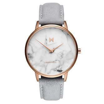 MVMT Boulevard Ladies' Grey Leather Strap Watch - Product number 5232392
