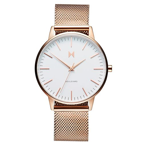 MVMT Boulevard Ladies' Rose Gold Plated Mesh Bracelet Watch - Product number 5232457