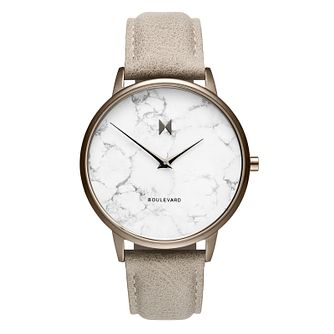 MVMT Boulevard Ladies' Grey Leather Strap Watch - Product number 5232538