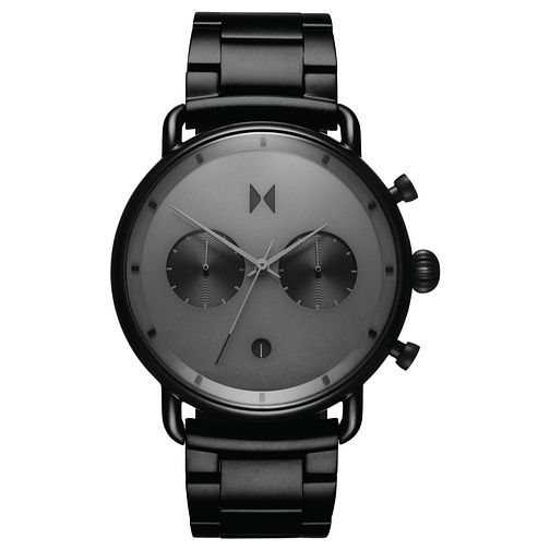 MVMT Blacktop Men's Black Leather Strap Watch - Product number 5232546