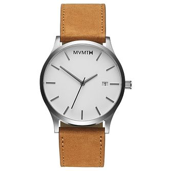 MVMT Classic Men's Tan Leather Strap Watch - Product number 5232562