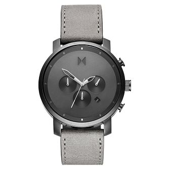 MVMT Chronograph Men's Grey Leather Strap Watch - Product number 5232600