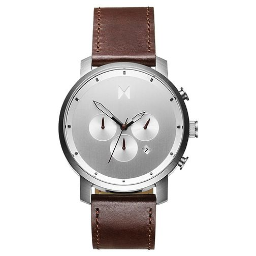 MVMT Chronograph Men's Brown Leather Strap Watch - Product number 5232635
