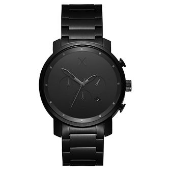 MVMT Chronograph Men's Black IP Bracelet Watch - Product number 5232678