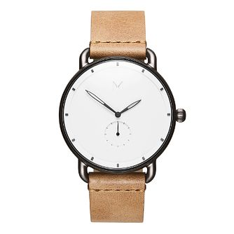 MVMT Revolver Men's Tan Leather Strap Watch - Product number 5233038