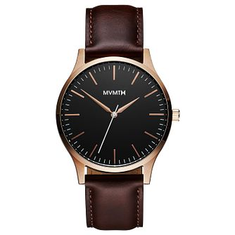 MVMT 40 Series Men's Brown Leather Strap Watch - Product number 5233208