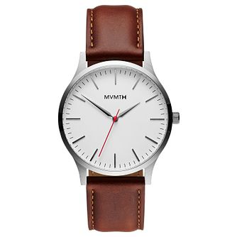 MVMT 40 Series Men's Brown Leather Strap Watch - Product number 5233216